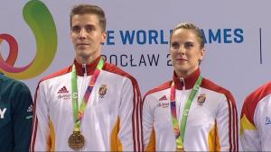 Sara Moreno y Vicente Lli, medalla de oro en los World Games de Wroclaw (Polonia)