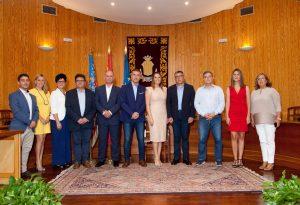 El Delegado del Gobierno Juan Carlos Fulgencio visita el Ayuntamiento de Moncada