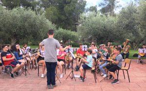 Unión Musical de Moncada y la Societat Musical de Massalfassar realizan una acampada musical en Godelleta