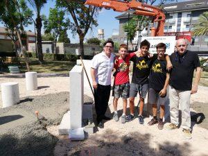 Museros ejecuta la obra de construcción de una zona de parkour en la Avenida Blasco Ibáñez