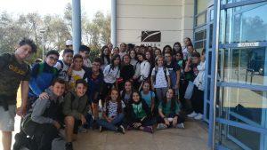 Los alumnos de ESO del colegio Sant Jaume han visitado el yacimiento rupestre de la Valltorta