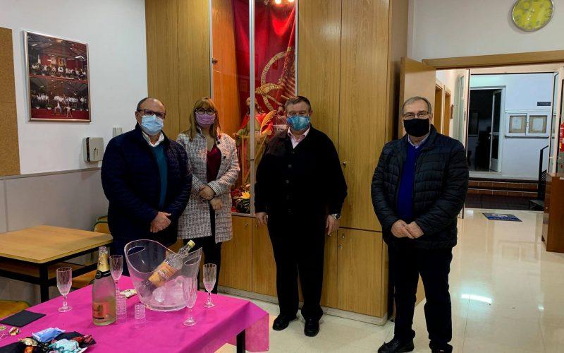 La Presidenta de la FSMCV visita la nueva sede de Unión Musical de Moncada